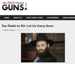 Menachem Margolin, un rabbin de Bruxelles réclame le droit de porter une arme pour les juifs de Belgique