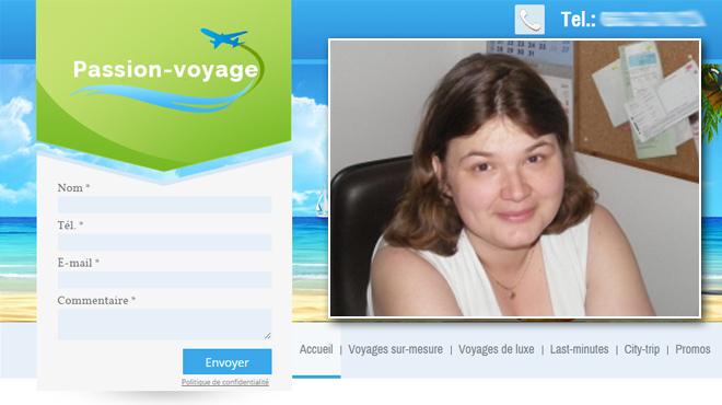 Katia, indépendante, voulait un site web pour son activité, et elle est déçue des retombées: