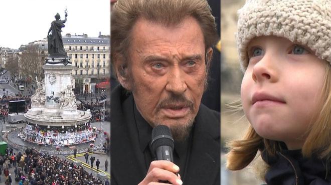Émotion à Paris: Johnny Hallyday, Brel et Victor Hugo pour l'hommage aux victimes des attentats (vidéos)