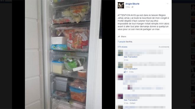Sans lectricit angie distribue le contenu de son cong lateur avant - Congelateur duree sans electricite ...