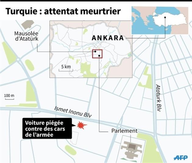 VIDÉO. Turquie : 28 morts dans un attentat à la voiture piégée