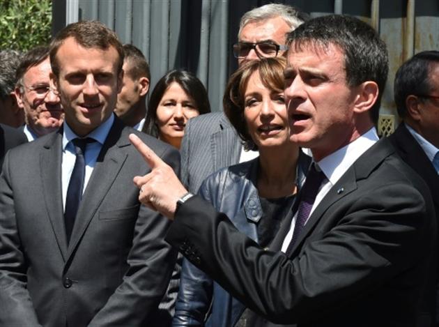 Cacophonie au gouvernement... Macron contredit Valls et Hollande — Rémunération des patrons