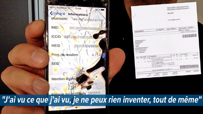 Mehdi casse son smartphone assuré chez Media Markt: