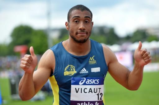 Athlétisme: Vicaut 3e du 100 m, battu par le Néerlandais Martina