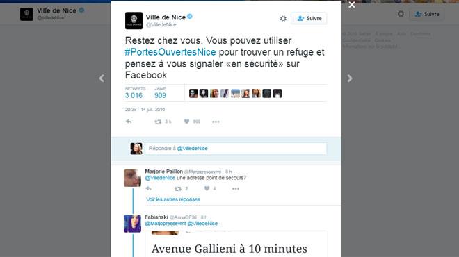 Facebook active Safety Check — Attentat à Nice