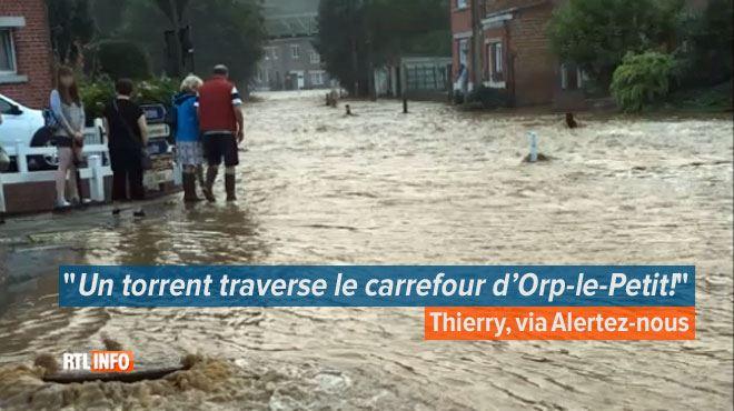 Inondations et coulées de boue- situation critique dans le Brabant wallon, un camp scouts évacué (vidéos) 1