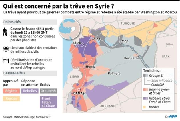Qui est concerné par la trêve en Syrie ?- Paz PIZARRO Sabrina BLANCHARD Thomas SAINT-CRICQ
