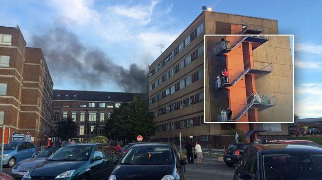 Incendie en cours à l'hôpital de Warquignies- sinistre maîtrisé, patients évacués ou déplacés dans ce qui reste de l'hôpital (photo-vidéos) 1