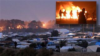 Jungle de Calais- l'évacuation a commencé après une dernière soirée d'affrontements entre policiers et migrants 3