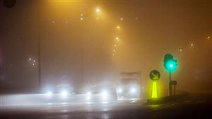 PRUDENCE ce matin: un brouillard épais réduit votre visibilité