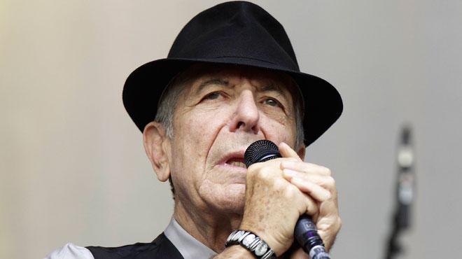 Le chanteur Léonard Cohen, auteur de la célèbre chanson