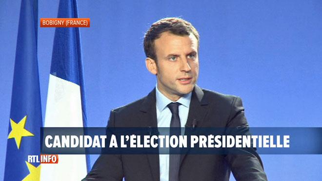 Présidentielle française - L'ancien ministre de l'Economie Emmanuel Macron annonce sa candidature