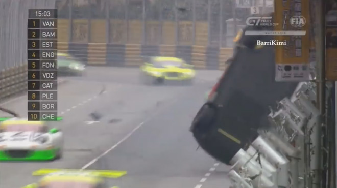 FIA GT: le Belge Vanthoor victime d'un terrible crash...et vainqueur! (vidéo)