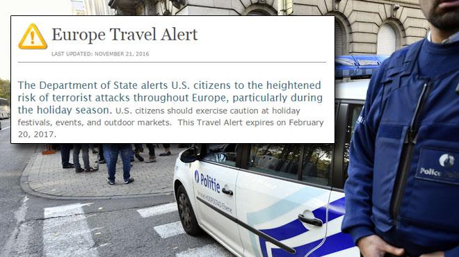 D'autres attaques terroristes en Europe seraient en préparation pour les vacances de Noël, selon les USA qui émettent une