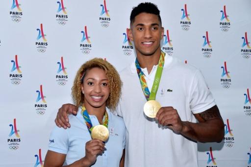 Les médaillés olympiques décorés à l'Elysée