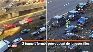 Piégés dans les bouchons, les pompiers font la circulation eux-mêmes pour franchir le rond-point Louise (vidéo) 4
