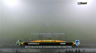 Europa League- le match entre Genk et Sassuolo reporté à cause du brouillard (vidéo) 3