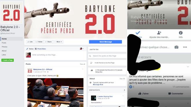 le groupe secret babylone 2 0 sur facebook choque des hommes diffusent des photos de leurs. Black Bedroom Furniture Sets. Home Design Ideas
