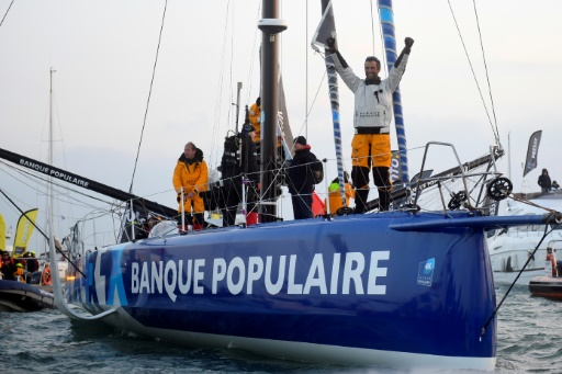 Armel Le Cléac'h remporte le Vendée Globe