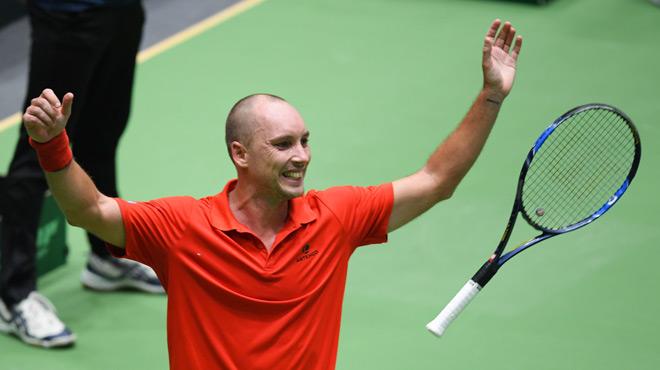 De Greef s'incline, l'Allemagne revient à 1-1 — Coupe Davis