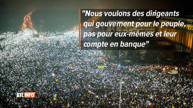 Scène incroyable à Bucarest: le peuple envahit les rues et fait capituler son gouvernement sur une loi impopulaire