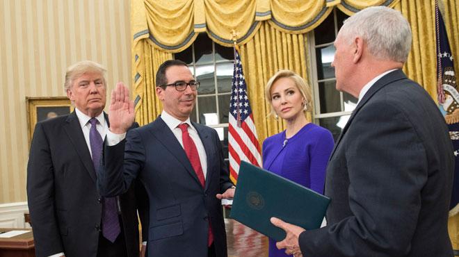 La fiancée du nouveau secrétaire américain au Trésor est une actrice qui n'a pas peur de dévoiler ses charmes  (photos)