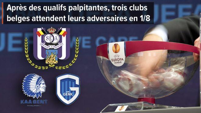Europa League- Anderlecht, Gand et Genk connaîtront leurs adversaires en 1/8 dès 13h 1