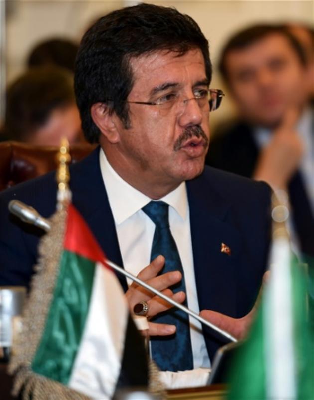 Le ministre turc de l'Economie Nihat Zybekci le 13 octobre 2016 à Ryad- FAYEZ NURELDINE