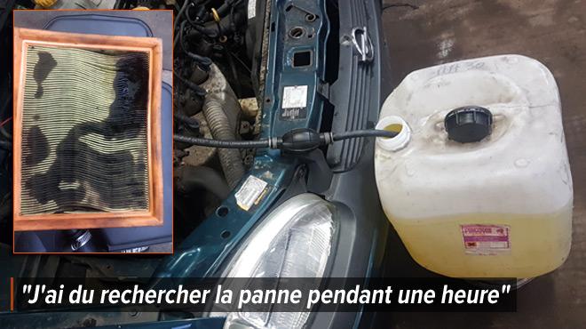 Antonio, garagiste, a réparé une voiture qui n'aurait pas dû utiliser d'essence E10: