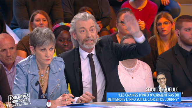 Grosse tension dans TPMP à propos de la médiatisation du cancer de Johnny Hallyday