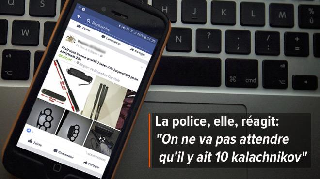 Arnaud aperçoit régulièrement des armes prohibées en vente sur Facebook: