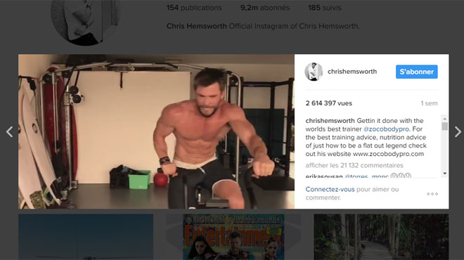 chris hemsworth se pr pare torse nu pour le prochain thor attention les yeux vid o rtl. Black Bedroom Furniture Sets. Home Design Ideas