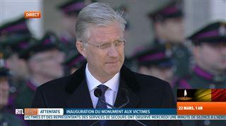 Le Roi rend hommage aux victimes- A la haine et à la violence, vous avez répondu par la dignité