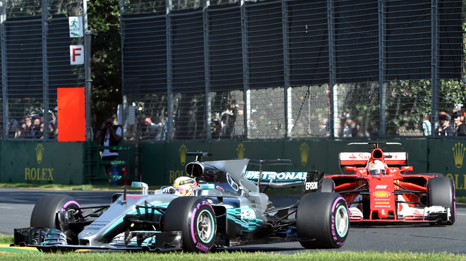 Hamilton (Mercedes) s'impose devant Vettel (Ferrari)