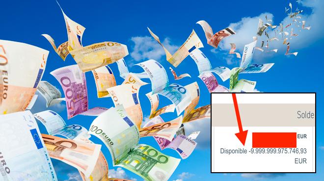 Jérôme, un indépendant, voit son compte bancaire afficher – 10 BILLIONS d'euros: