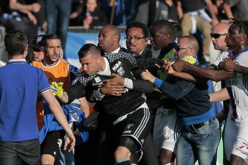 Ligue 1 les joueurs de l'Olympique lyonnais ont quitté le stade Furiani