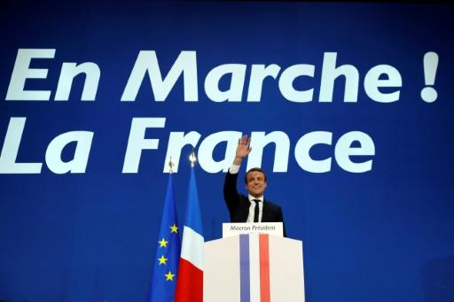 Emmanuel Macron le 23 avril 2017 à Paris Patrick KOVARIK
