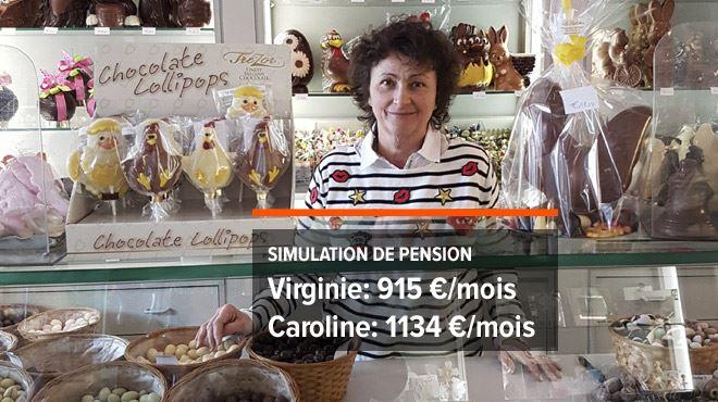 Deux amies bientôt retraitées- Virginie, indépendante qui a travaillé toute sa vie, touchera moins que Caroline qui a chômé presque toute sa vie 1