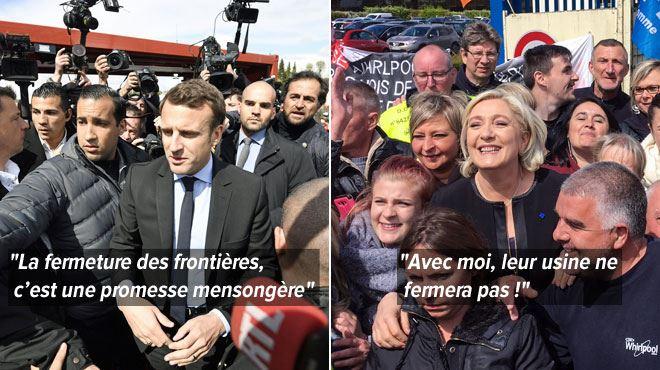 Macron sifflé lors de sa visite dans une usine délocalisée- Le Pen était sur place quelques heures plus tôt... 1