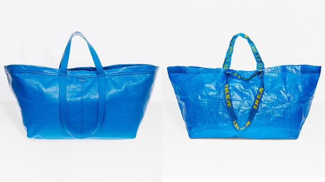 balenciaga sort un sac tr s similaire au shopper bleu d 39 ikea sauf qu 39 il co te 2000 fois plus. Black Bedroom Furniture Sets. Home Design Ideas