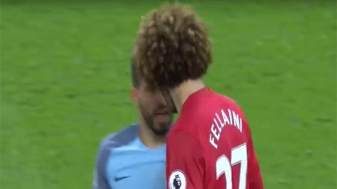 Marouane Fellaini voit rouge et donne un coup de boule à Agüero qui s'écroule facilement (vidéo) 1