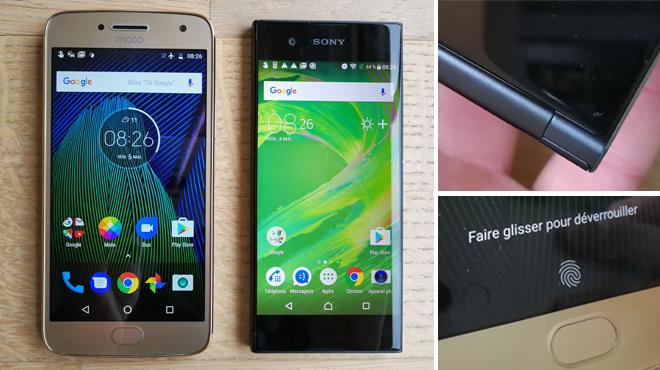 Moto G5 Plus, Xperia XA1: quel est le meilleur de ces deux smartphones à moins de 300€ ?
