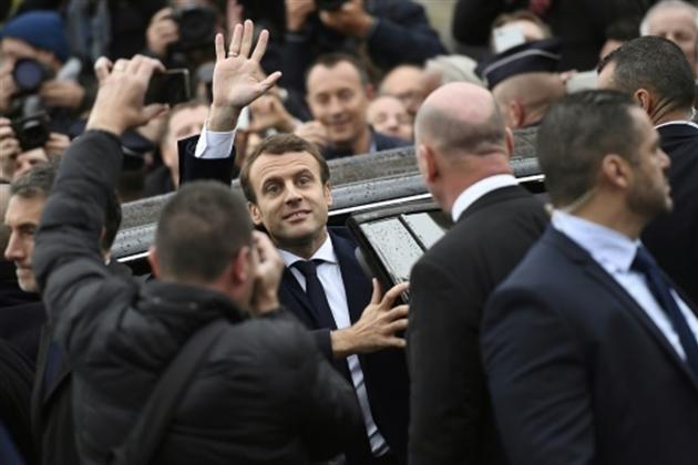 Emmanuel Macron le 7 mai 2017 au Touquet- Eric FEFERBERG