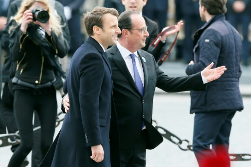 Macron et Hollande commémorent ensemble le 8 mai 1945 — France