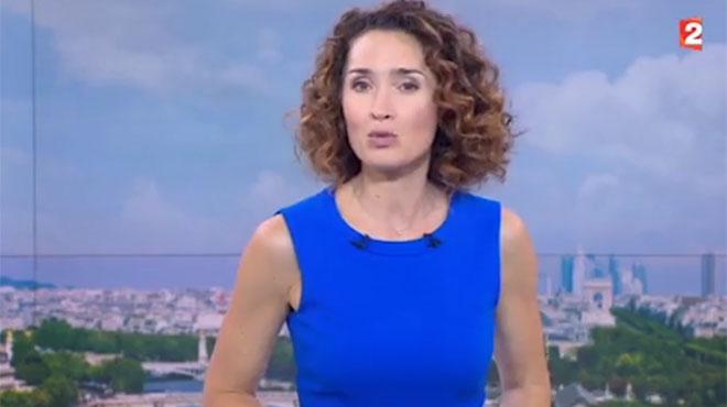 David Pujadas évincé du 20 heures: Marie-Sophie Lacarrau, émue, lui rend un bel hommage (vidéo)