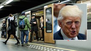Lignes de trams et de bus déviées, station de métro fermée- les conséquences de la venue de Donald Trump à Bruxelles sur les transports en commun 4