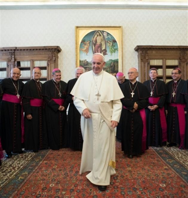Rencontre de deux papes