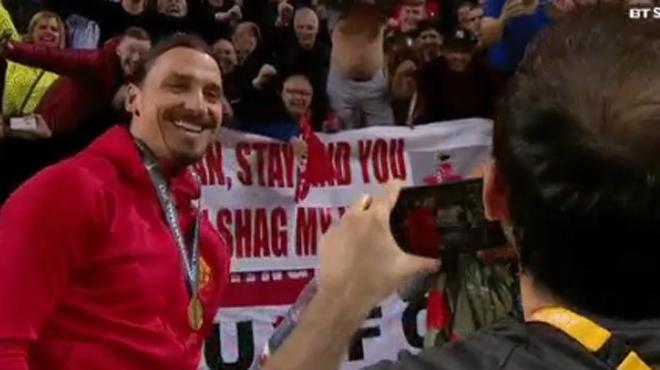 Ibrahimovic va rester...en Europe — Man Utd
