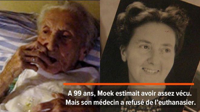 Moek, 99 ans, avale les médicaments devant la conduire vers la mort- son fils filme ses derniers instants pour prouver qu'elle était consciente 1