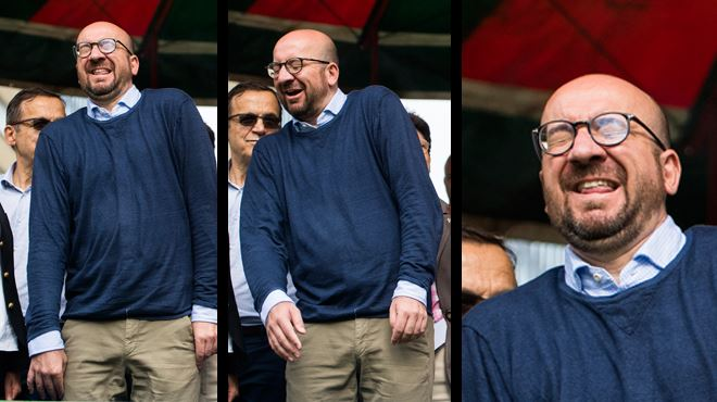 L'attitude bizarre de Charles Michel aux 20 km de Bruxelles- qu'est-il arrivé au Premier ministre? (photos et vidéo) 1